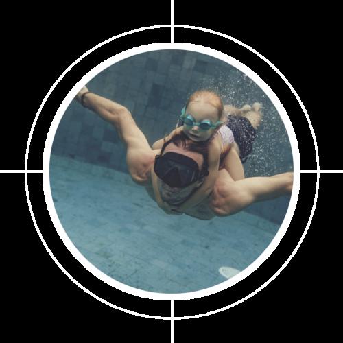 Unterwasserfoto im Pool